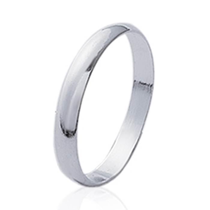 Bague Alliance mariage femme, anneau en argent massif