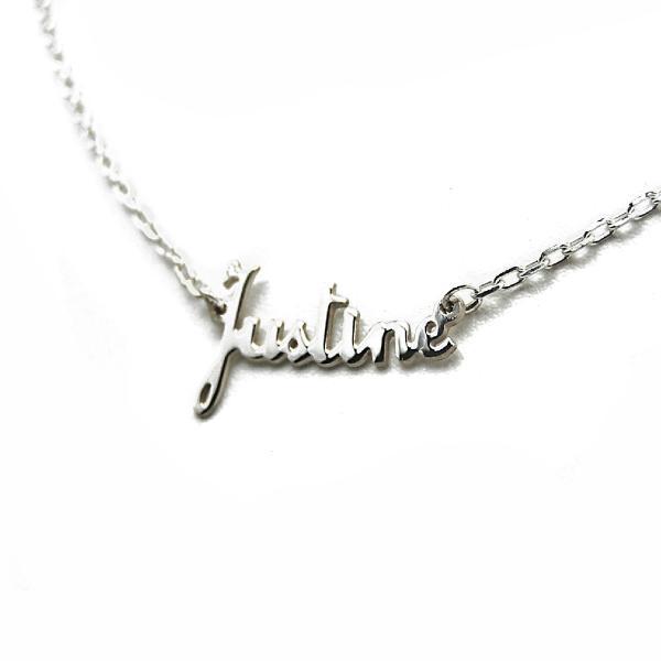 collier argent femme prenom