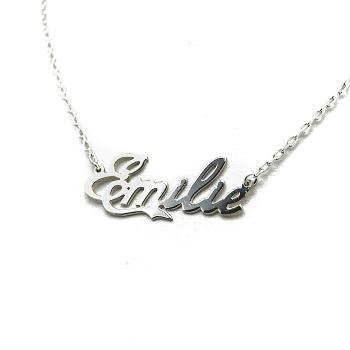 collier prenom emilie